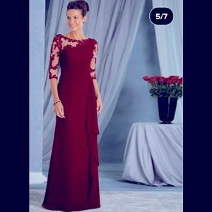 Elegant Women Fashion Lace Maxi Long Formal Dress
